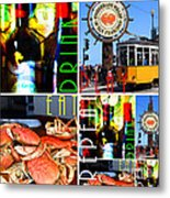 Eat Drink Play Repeat San Francisco 20140713 Horizontal Metal Print