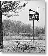 Eat Here Metal Print