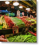 Eat Your Fruits And Vegetables Metal Print