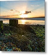 Ebb Tide At Sunset Metal Print