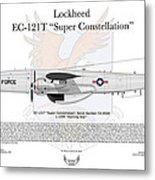 Ec-121t Warning Star Metal Print by Arthur Eggers