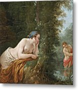 Echo And Narcissus Metal Print
