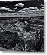 Echo Park From The Ridge Black And White Metal Print