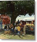 Eckert's Market Under Big Tree Metal Print