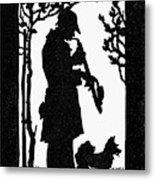 Eckstein Man And Dog Metal Print