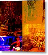 Eclectic Things Collage Metal Print