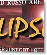Eclipse Faux Movie Banner Metal Print