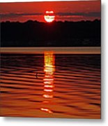 Eclipse Sunset Metal Print