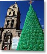Ecological Christmas Tree Metal Print