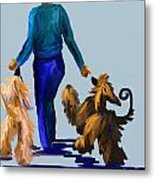 Eddie Dancing With Dogs Metal Print