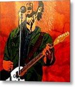 Eddie Vedder-eddie Live Metal Print by Bill Manson