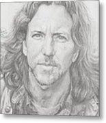 Eddie Vedder Metal Print by Olivia Schiermeyer
