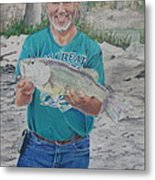 Eddie's Catch Metal Print