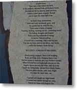 Eden's Womb Poem Collage Metal Print