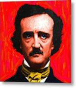 Edgar Allan Poe - Painterly - Square Metal Print