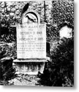Edgar Allen Poe Grave Site Baltimore Metal Print