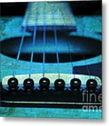 Edgy Abstract Eclectic Guitar 16 Metal Print by Andee Design