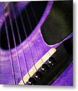 Edgy Purple Guitar  Metal Print