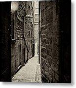 Edinburgh Alley Sepia Metal Print by Jane Rix