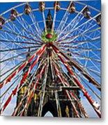 Edinburgh's Christmas Ferris Wheel Metal Print