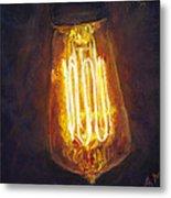 Edison Bulb Metal Print by Ann Moeller Steverson