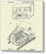 Edison Locomotive 1892 Patent Art Metal Print by Prior Art Design