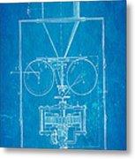 Edison Motion Picture Camera Patent Art 1897 Blueprint Metal Print