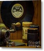 Edison Record And Equipment Metal Print
