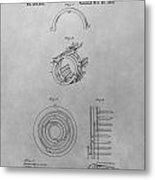 Edison's Electric Generator Patent Drawing Metal Print