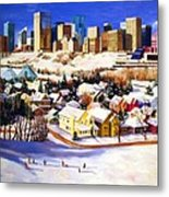 Edmonton In Winter Metal Print