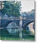 Edo Castle And Nijubashi Bridge Metal Print