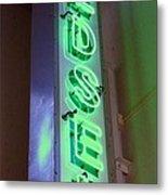 Edsel Sign Aglow Metal Print