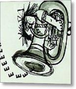 Eeeeeeek! Ink On Paper Metal Print