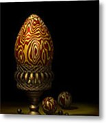 Egg And Marbles Metal Print