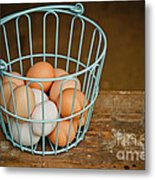 Egg Basket Metal Print