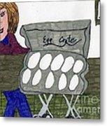 Egg Crate Metal Print