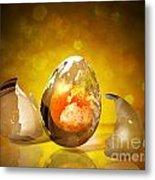 Egg World Metal Print