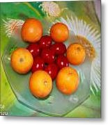 Egss Fruits And Flowers Metal Print