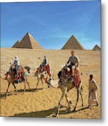 Egypt, Cairo, Giza, Tourists Ride Metal Print
