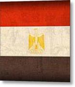 Egypt Flag Distressed Vintage Finish Metal Print