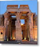 Egypt, Kom Ombo Sunset At The Egyptian Metal Print