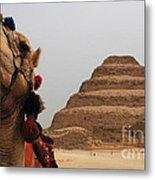 Egypt Step Pyramid Saqqara Metal Print