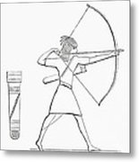Egyptian Archer And Quiver.  From The Imperial Bible Dictionary, Published 1889 Metal Print