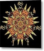 Egyptian - Fractal Metal Print
