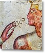 Egyptian Hand With Ankh Metal Print