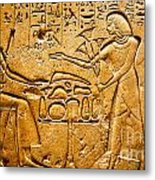 Egyptian Hieroglyphics Metal Print