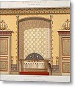 Egyptian Interior , From Interior Metal Print