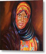 Egyptian Nubian Girl Metal Print