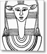 Egyptian Symbol Hathor Metal Print