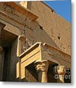 Egyptian Temple Architectural Detail Metal Print